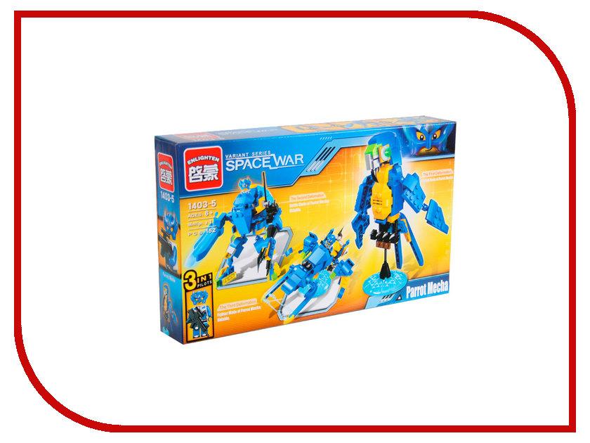 Конструктор Enlighten Brick Space War 1403-5 Попугай 162 дет. 242560 enlighten 1402 8 in 1 space war warship model building block compatible legoe 683pcs diy toys for children