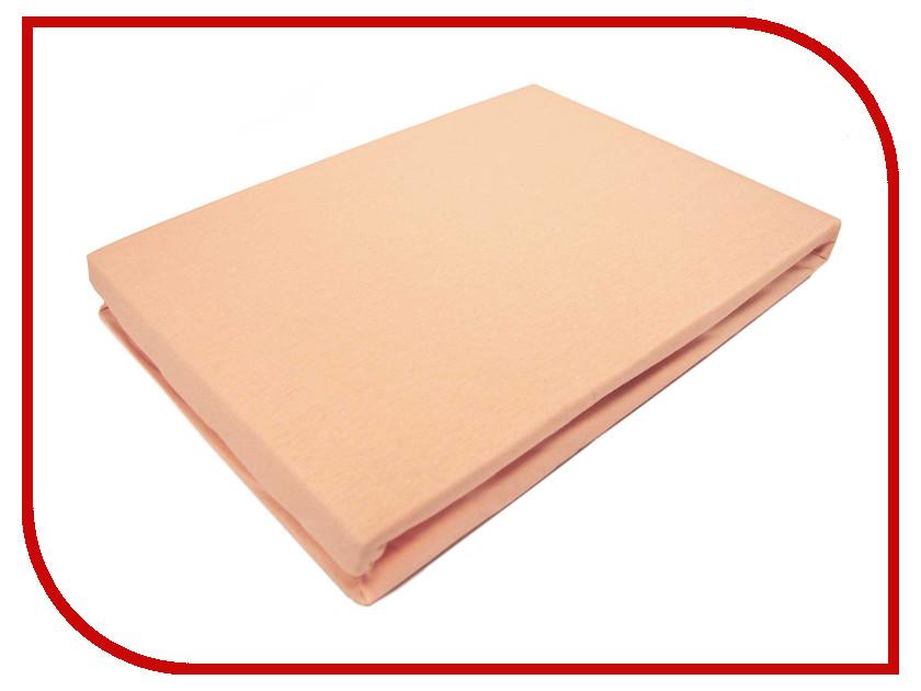Простынь Эго Трикотаж на резинке 160x200 Peach Э-ПР-02-30