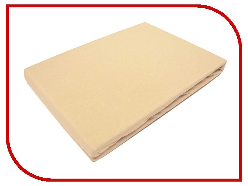 Простынь Эго Трикотаж на резинке 160x200 Beige Э-ПР-02-33