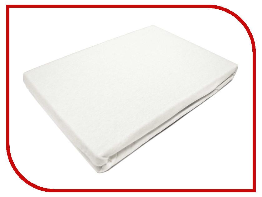 Простынь Эго Трикотаж на резинке 160x200 White Э-ПР-02-35