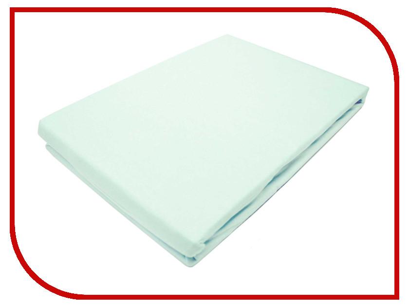 Простынь Эго Трикотаж на резинке 160x200 Light Blue Э-ПР-02-36