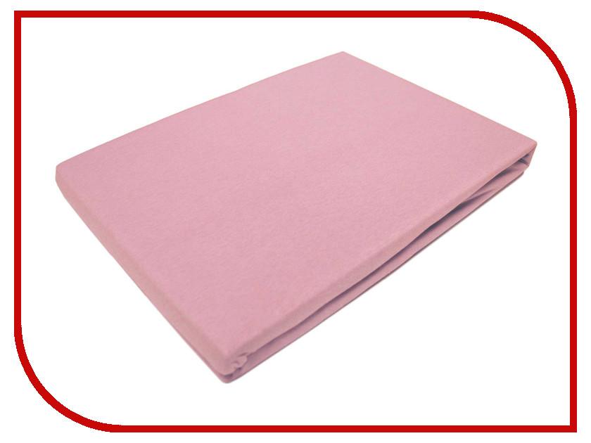 Простынь Эго Трикотаж на резинке 200x200 Light Pink Э-ПР-04-32