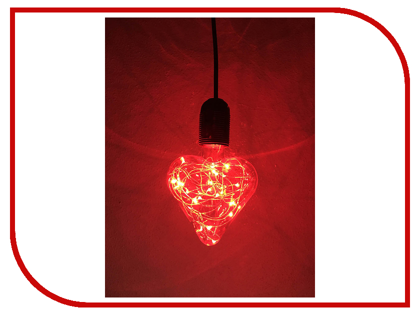 Светящееся украшение Светодиодная лампа Espada Сердце Red E-E27HBJ68R