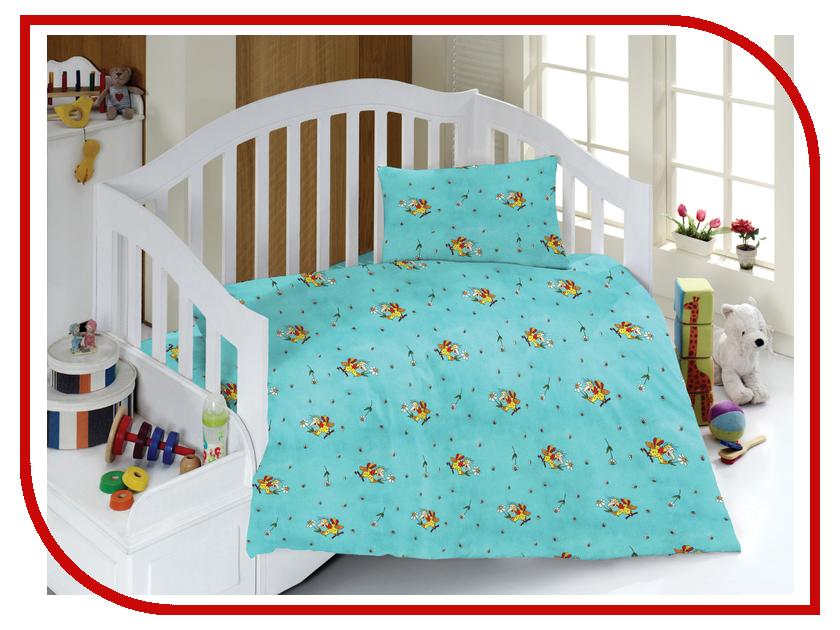 постельное белье эго комплект 1 5 спальный бязь Постельное белье Эго КПБ-Д-01 Комплект 1.5 спальный Бязь Light Blue-Yellow Funnel