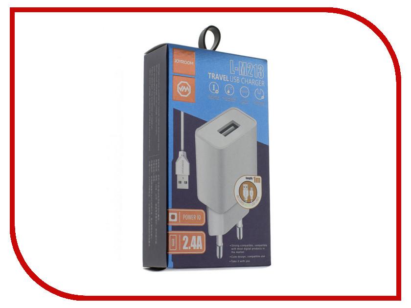 Зарядное устройство JoyRoom L-M213i Lightning 2.4A White joyroom jr hp768 black
