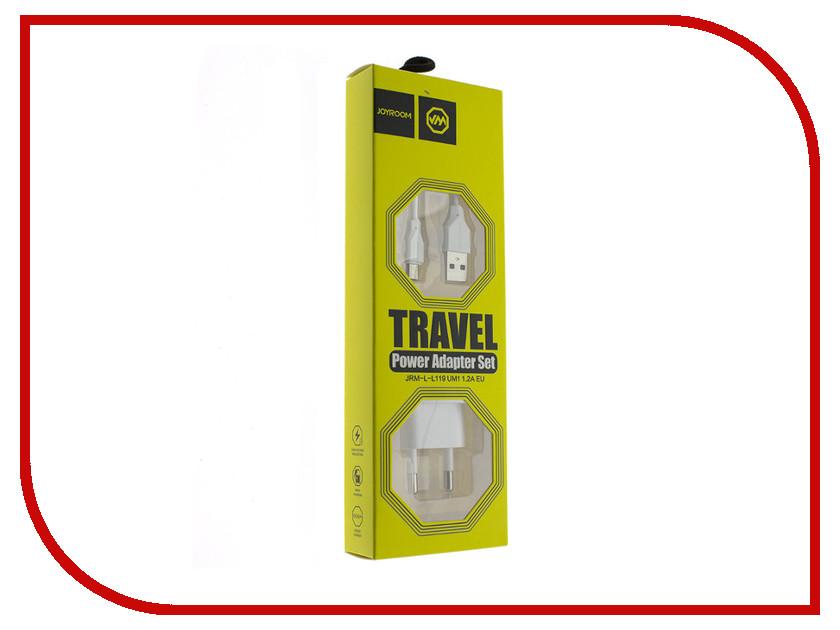 Зарядное устройство JoyRoom L-L119m micro USB 1A White зарядное устройство red line lite tc 1a 1xusb 1a white usb micro usb white