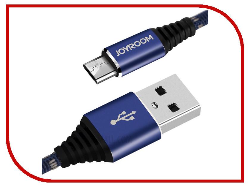 Аксессуар JoyRoom Woven Fabric S-L316m USB - micro USB Blue аксессуар joyroom woven fabric s l316m usb micro usb blue