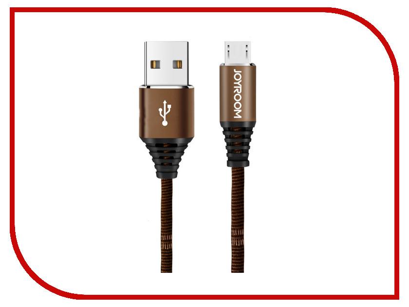 Аксессуар JoyRoom Woven Fabric S-L316m USB - micro USB Brown аксессуар joyroom s q1i usb lightning silver