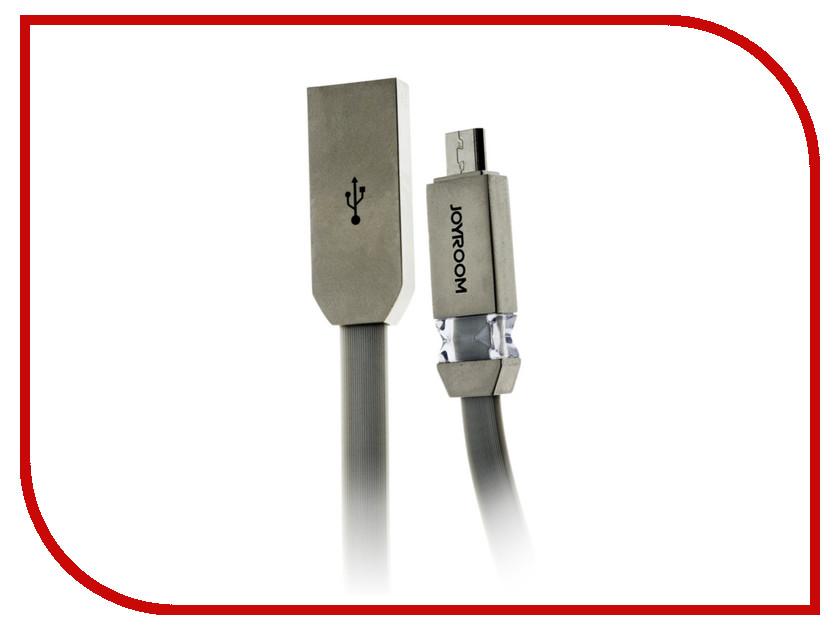 Аксессуар JoyRoom Crystal S-M337m USB - micro USB Silver аксессуар joyroom s q1i usb lightning silver