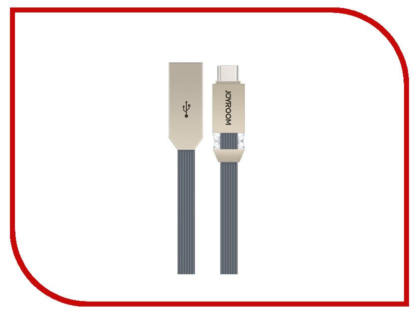 Аксессуар JoyRoom Crystal S-M337a USB - USB Type-C Dark-Grey аксессуар joyroom s q1i usb lightning silver