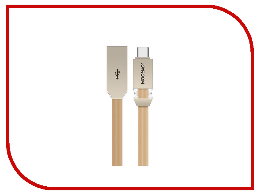 Аксессуар JoyRoom Crystal S-M337a USB - USB Type-C Gold аксессуар joyroom s q1i usb lightning gold