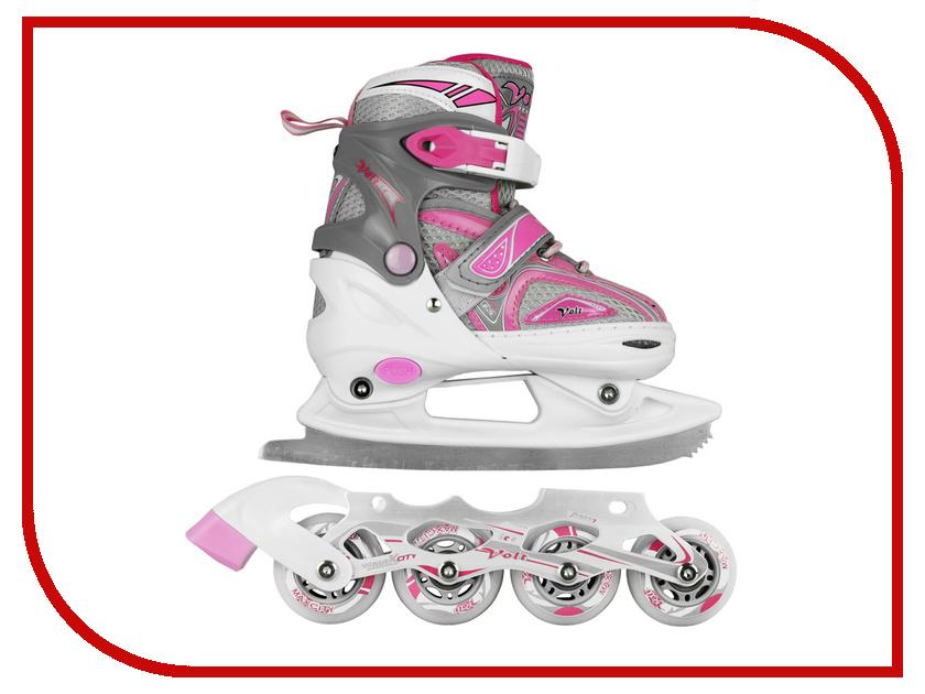 Коньки Maxcity Volt Ice р.31-34 Pink коньки onlitop 223f р 37 40 pink 806170