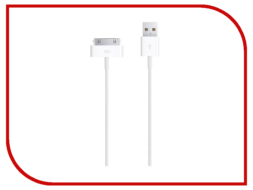 Аксессуар Smarterra STR-A30P-001 USB - 30-pin 1m White STRA30P001WT аксессуар smarterra usb micro usb 1m black str mu002