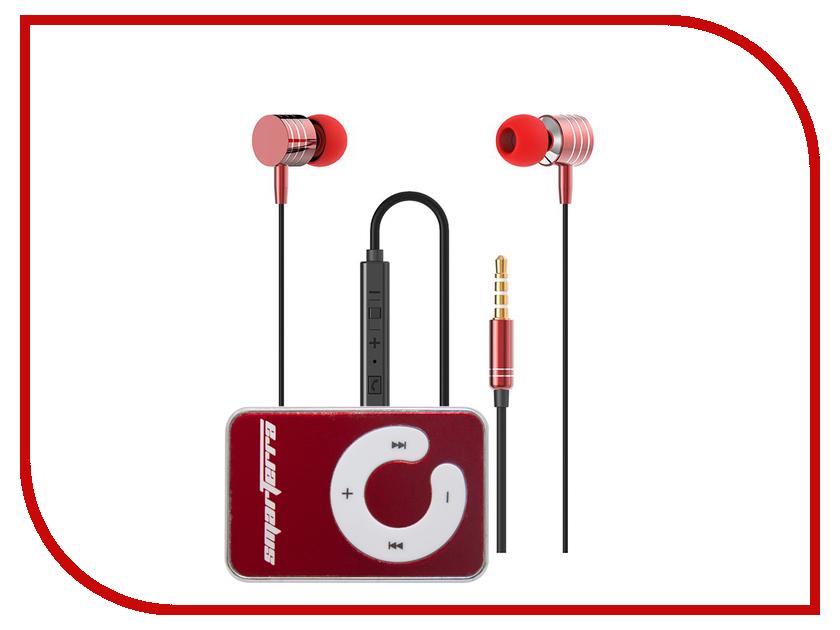 Smarterra P35 Ska + Стереогарнитура XQ-700MVC Red BL206 mp3 плееры smarterra mp3 player smarterra ska pink