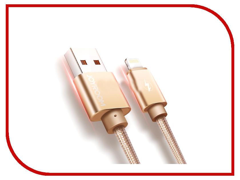 Аксессуар JoyRoom S-Q1i USB - Lightning Gold аксессуар joyroom s q1i usb lightning silver