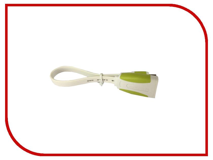 Аксессуар Mobiledata OTG MicroUSB - USB 0.15m Плоский White/Green OTG-WG-0.15 кабель usb otg usb f microusb 0 2м