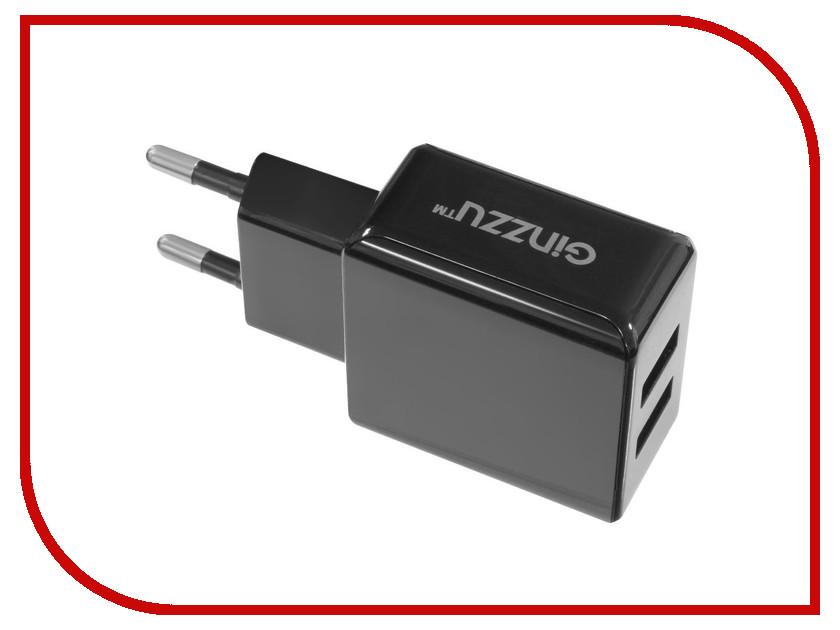 Зарядное устройство Ginzzu 2xUSB 3.1A Black GA-3311UB сетевое зарядное устройство ginzzu ga 3311ub 2 х usb 3 1а черный