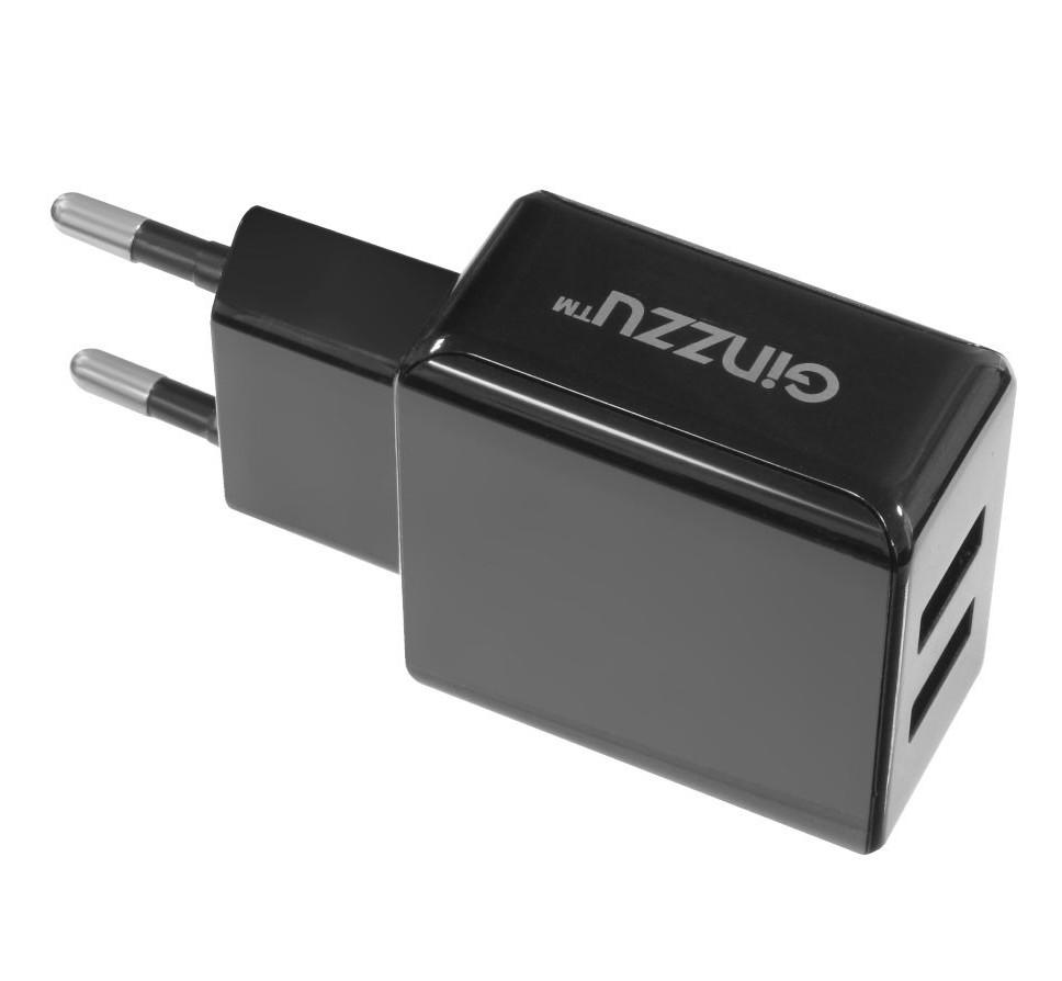 Зарядное устройство Ginzzu 2xUSB 3.1A Black GA-3311UB ginzzu ga 3003b black сетевое зарядное устройство 1 2 a