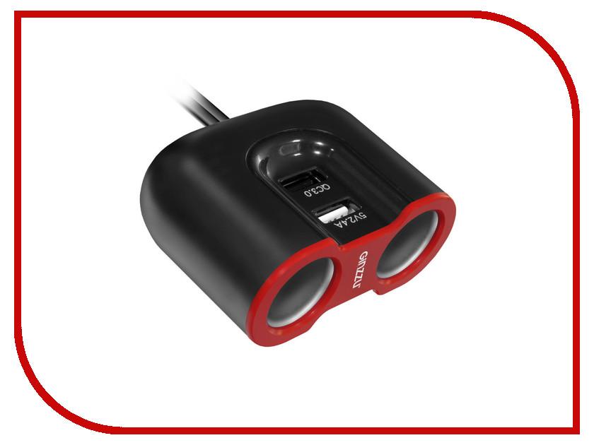 все цены на Зарядное устройство Ginzzu + разветвитель GA-4816UB Black