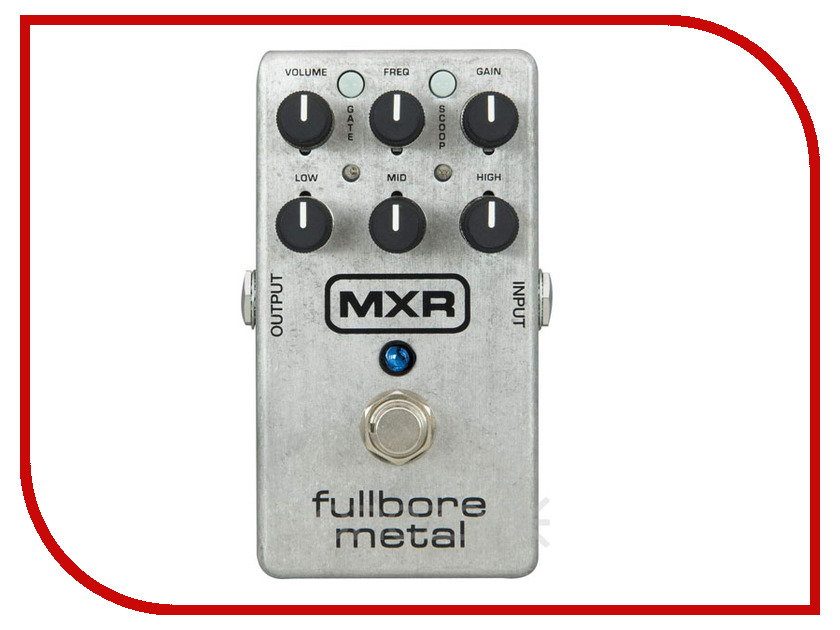 Педаль Dunlop MXR M116 Fullbore Metal Distortion педаль overdrive и distortion dunlop jimi hendrix octavio fuzz ltd
