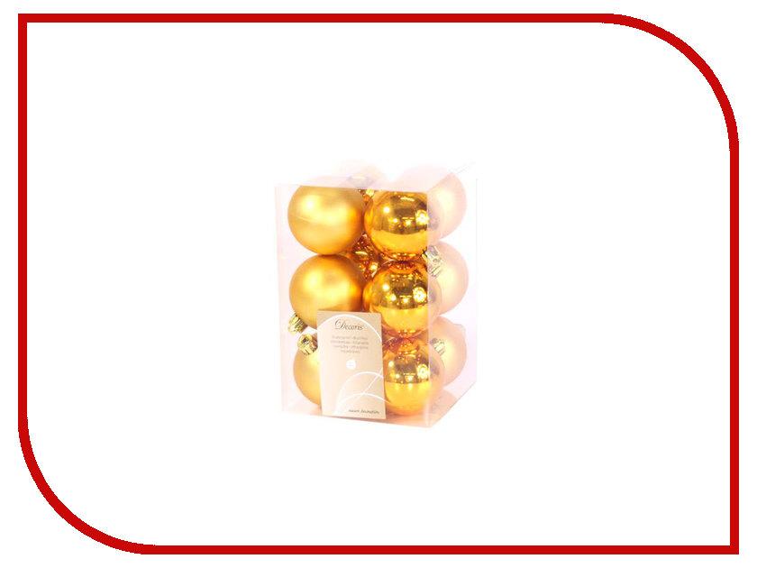 Украшение Kaemingk Набор шаров 12шт Gold 021984