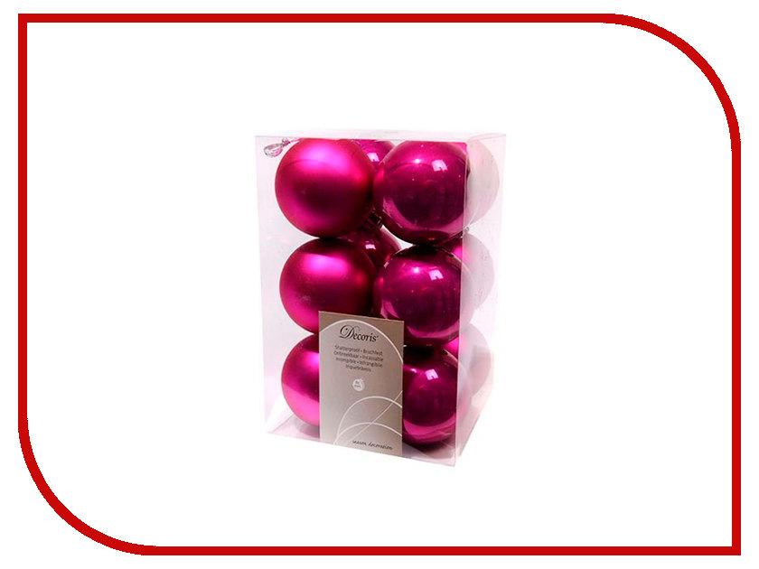 Украшение Kaemingk Набор шаров 12шт Fuchsia 958128