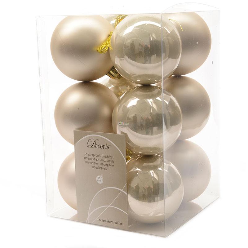 Украшение Kaemingk Набор шаров 12шт Pearl 021845