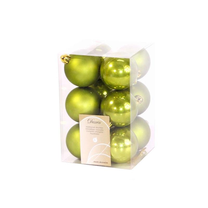 Украшение Kaemingk Набор шаров 12шт Olive 021976