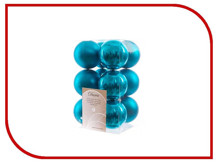 Украшение Kaemingk Набор шаров 12шт Turquoise 021982