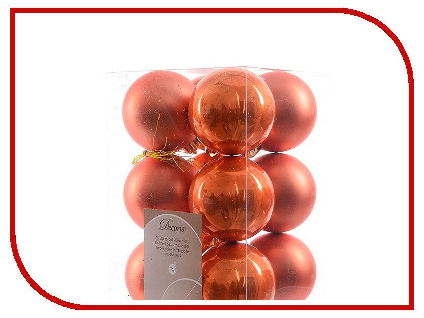 Украшение Kaemingk Набор шаров 12шт Orange 021965