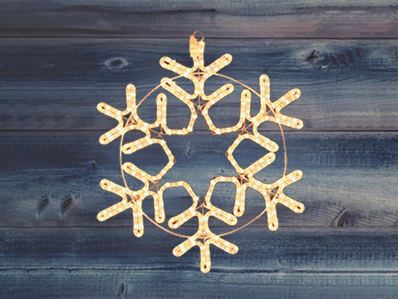 Светящееся украшение Neon-Night Фигура Снежинка 55cm Warm White 501-324