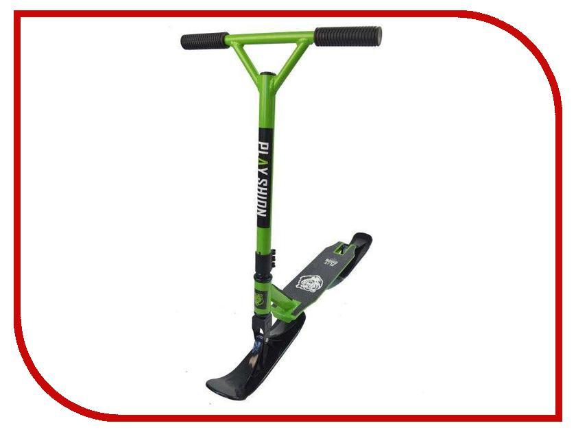 Снегокат Playshion Extreme SnowScooter Green скейт playshion diamond 22 violet pl ps001 v