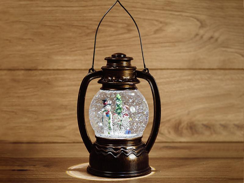 Снежный шар Neon-Night Фонарь с подсветкой Снеговики 501-061