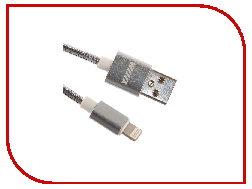 Аксессуар WIIIX USB-Lightning 1m Silver CB850-U8-AL-10S connector hr34b 12wlpd 10s