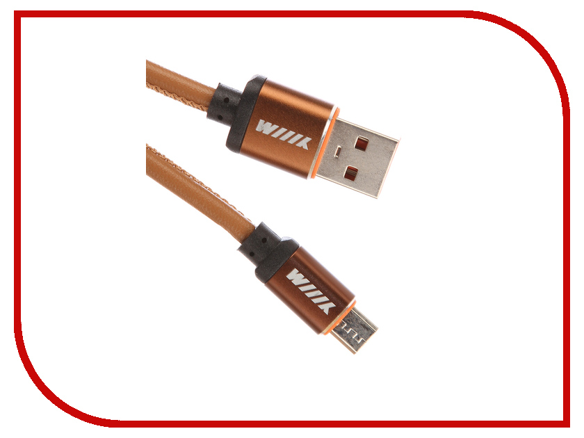 Аксессуар WIIIX micro-USB 1m Brown CB810-2A-UMU-LR-10BN кабели wiiix кабель переходник микро usb синий cb120 umu 10bu wiiix 1м