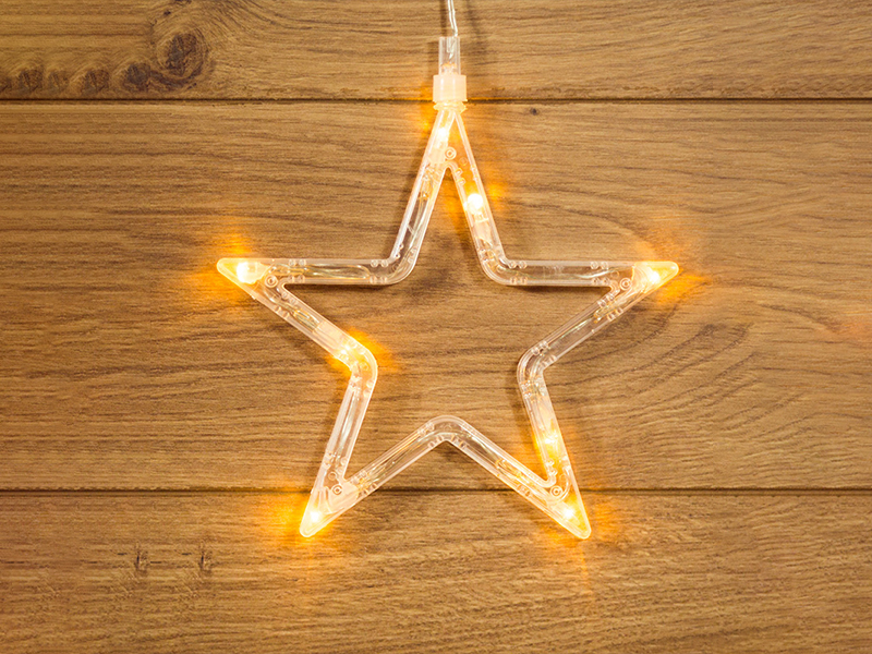 Светящееся украшение Neon-Night Звездочка на присоске LED Warm White 501-011