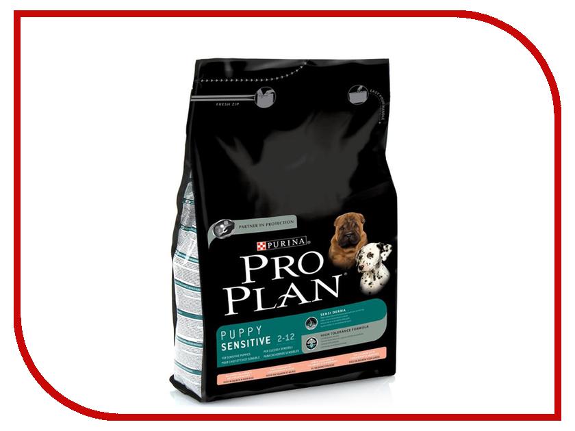 Корм Pro Plan Puppy Sensetive Ягненок с рисом 3kg для щенков с чувствительным пищеварением 60636 корм сухой pro plan adult sensitive для собак с чувствительным пищеварением и кожей с лососем и рисом 14 кг