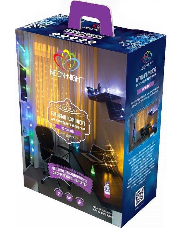 Гирлянда Neon-Night Набор Комната LED Blue 500-023