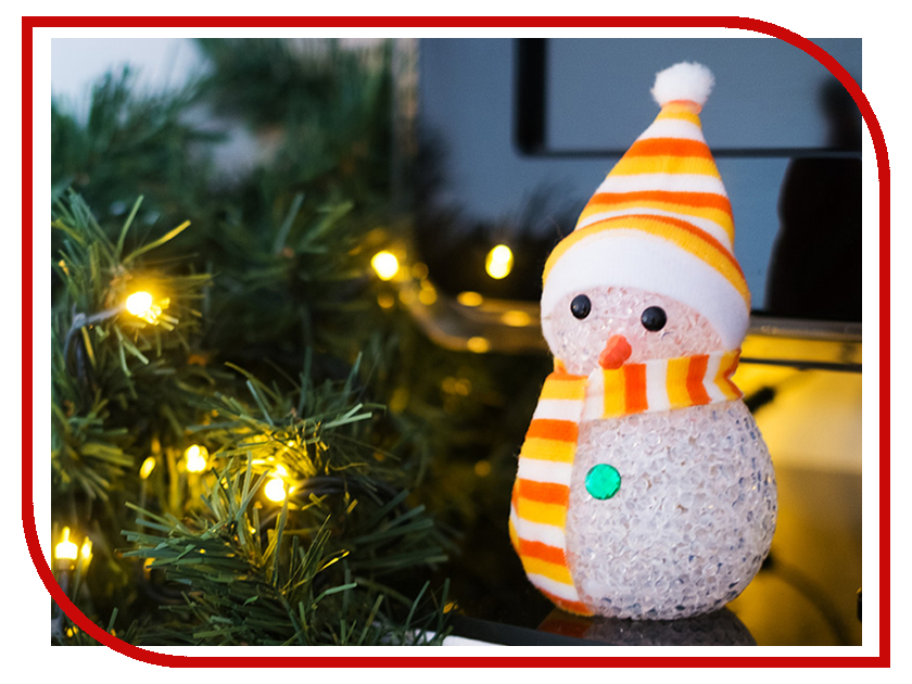 Новогодний сувенир Neon-Night Снеговик 17cm LED RGB 513-018 neon