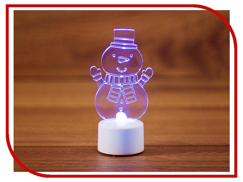 Новогодний сувенир Neon-Night Снеговик с шарфом 2D 10cm LED RGB 501-053 фигура акриловая светодиодная neon night снеговик с шарфом 40 led с понижающим трансформатором 30 см
