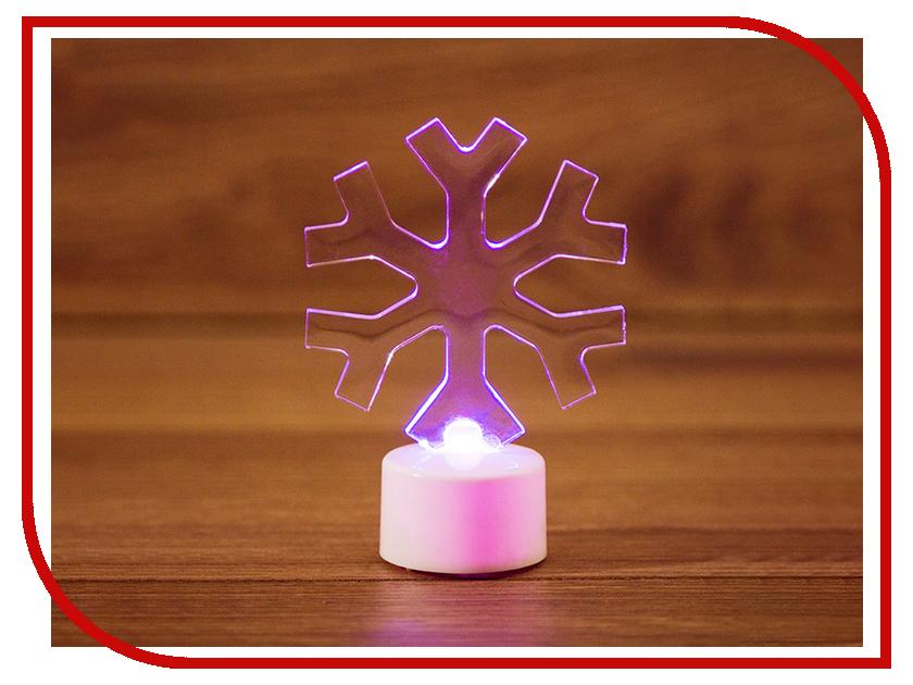 Новогодний сувенир Neon-Night Снежинка 2D 10cm LED RGB 501-055 световое панно neon night созвездие 501 355