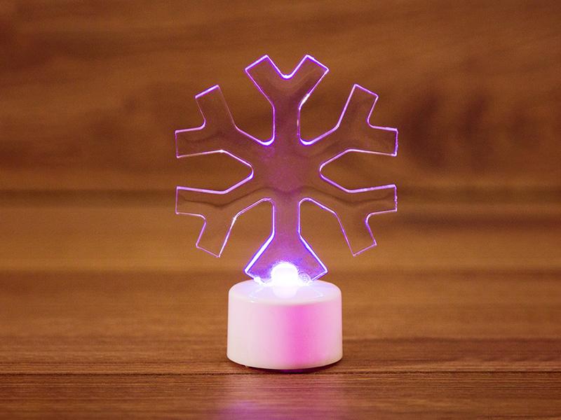 Игрушка Neon-Night Снежинка 2D 10cm LED RGB 501-055