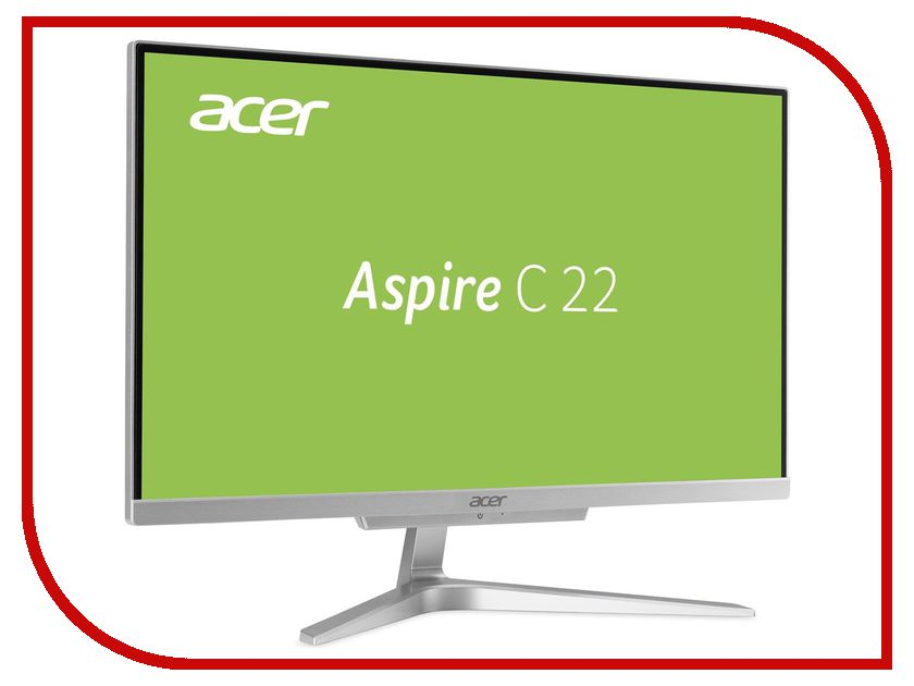 Моноблок Acer Aspire C22-860 Silver DQ.B93ER.001 (Intel Core i3-7100U 2.4 GHz/4096Mb/500Gb/Intel HD Graphics/Wi-Fi/Bluetooth/Cam/21.5/1920x1080/DOS)