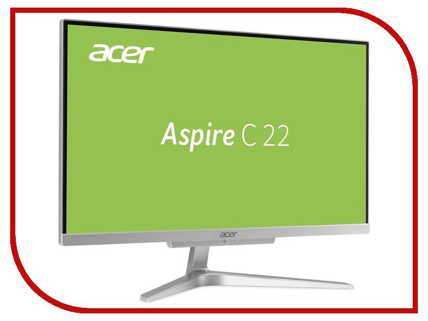 Моноблок Acer Aspire C22-860 Silver DQ.BAVER.003 (Intel Pentium 4405U 2.1 GHz/4096Mb/1000Gb/Intel HD Graphics/Wi-Fi/Cam/21.5/1920x1080/DOS) моноблок цена купить