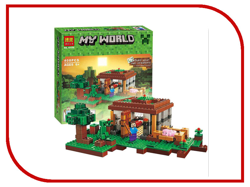 Конструктор Bela My World Первая ночь 10176 lele bela my world minecraft dragon blue sky 548pcs building blocks bricks toys for children gift mye