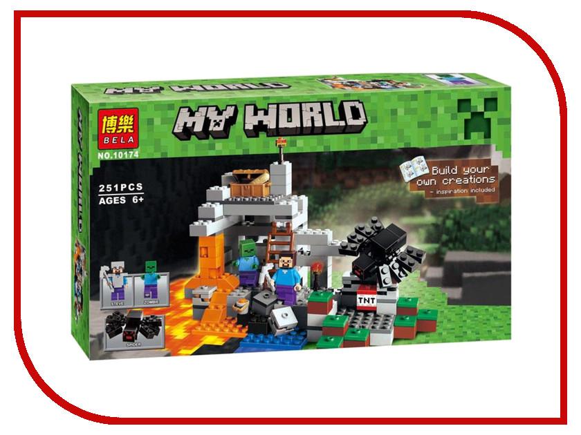 Конструктор Bela My World Пещера 10174 lele bela my world minecraft dragon blue sky 548pcs building blocks bricks toys for children gift mye