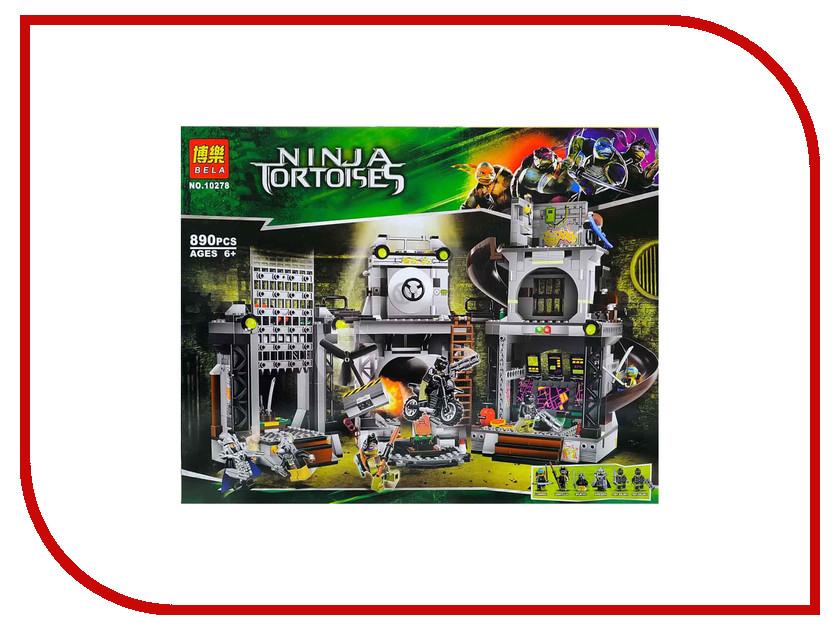 Конструктор Bela Ninja Tortoises 10278 755pcs bela 10325 ninja db x nya pythor kai masters of spinjitzu ninja building block toys compatible with lego