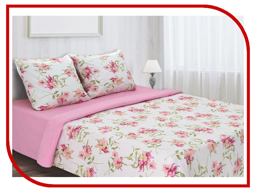 Постельное белье Этель Нимфа Комплект 2 спальный Перкаль 1157098 постельное белье альба перкаль 2 спальный