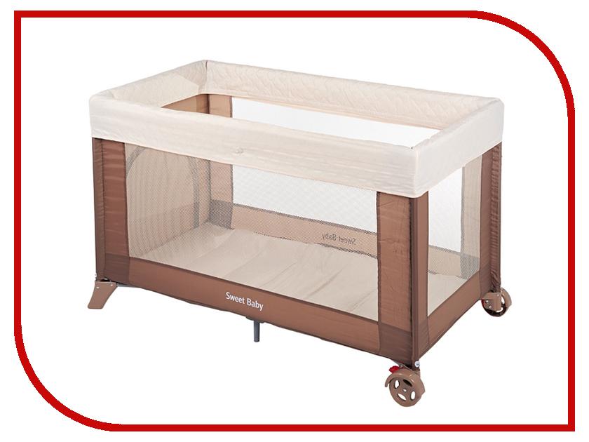 Манеж-кровать Sweet Baby Mantellina Cacao 325342 прогулочная коляска sweet baby combina tutto сetriolo sweet baby