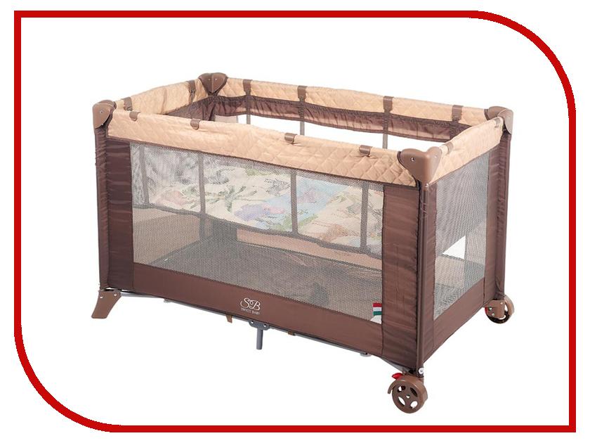 Манеж-кровать Sweet Baby Intelletto 5 в 1 Cacao 389763 игровой манеж sweet baby carnevale colore quadro 389 766